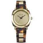 Full Size Tortoise Shell Square Circle Watch