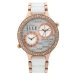 White Ceramic Dual Time Watch