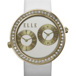 JETLAG - DUAL TIME WATCH, WHITE LEATHER STRAP