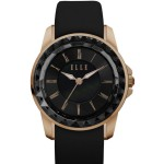RADIANT - SMALL SIZE BLACK ROMAN NUMERAL FACETED BEZEL WATCH
