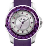 RADIANT - SMALL SIZE PURPLE AND STEEL FACET WATCH