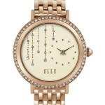 SPARKLING DROPS WATCH WITH IP GOLD BAND